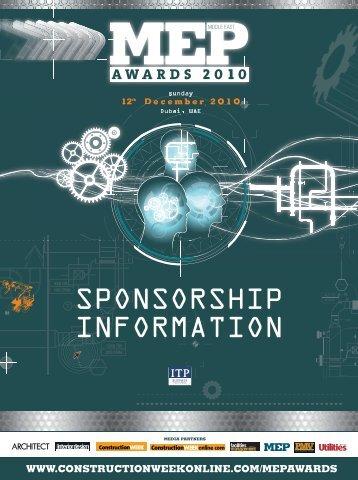 SPONSORSHIP INFORMATION - ITP.net