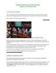 Northeast Ohio Sierra Club Newsletter January & February 2011