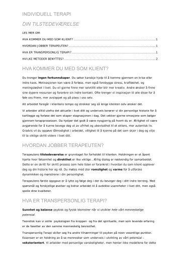 transpersonlig terapi - Christine Arentz Schjetlein