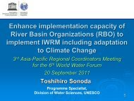 Mr. Toshihiro Sonoda, UNESCO - Asia-Pacific Water Forum