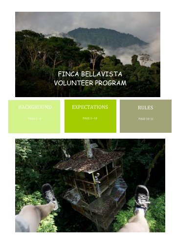 FINCA BELLAVISTA VOLUNTEER PROGRAM