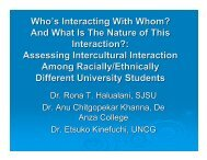 Dr. Rona Halualani's Intercultural Interaction Survey