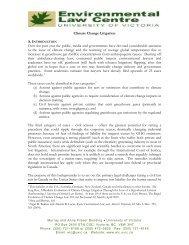 Climate Change Litigation - The Environmental Law Centre ...