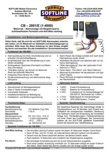 CB – 2001/E - Softline