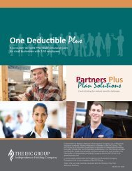Plan Solutions One Deductible Plus - IHC Health Solutions