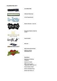 Ausstellerliste 2011 - ReiseLust