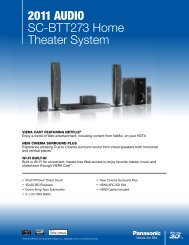 2011 AudiO SC-BTT273 Home Theater System - Panasonic