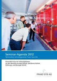 Seminar-Agenda 2012 - Franz Gysi