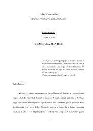 Ritiro al Presbiterio dell'Arcidiocesi Enzo Bianchi GESÙ EDUCA ...