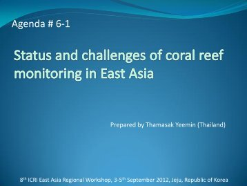 Presentation (PDF File) - International Coral Reef Initiative