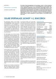 solare sportanlage juchhof 1+2, 8048 zürich - Solar Agentur Schweiz