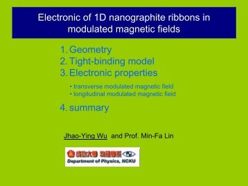 The low-energy electronic structures of nanographite ribbons in ...