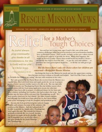 September / October 2010 - Bridgeport Rescue Mission