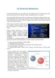 10) Sindrome Metabolica - Dieta della salute - Dott. Fabrizio MODA