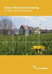 Solare Wassererwärmung in Mehrfamilienhäusern - Solarpunkt AG