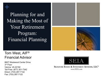 Financial Planning - Senior Services of Alexandria