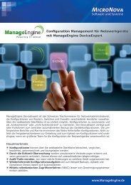 Produktbeschreibung - ManageEngine