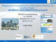 EnerKey - RECAST Urumqi Ressourceneffizien