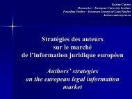 Karine Caunes - Journées européennes d'informatique juridique