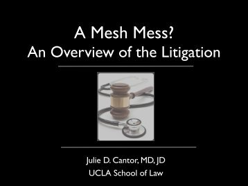 A Mesh Mess? An Overview of the Current ... - Cmebyplaza.com