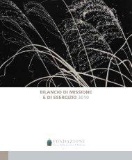BILANCIO DI MISSIONE E DI ESERCIZIO 2010 - Acri