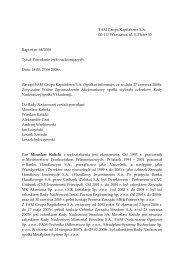 Raport bieżący nr 64/2008 - FAM Grupa Kapitałowa S.A.