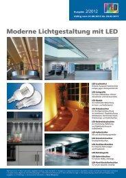Moderne Lichtgestaltung mit LED 2012 - Elektro Ressler