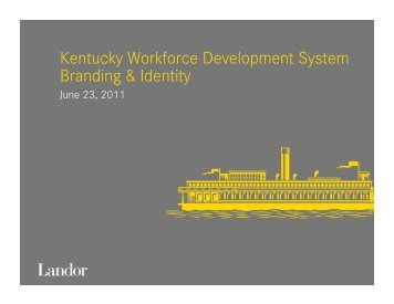 Branding and Identity Process - Kentucky Workforce Investment Board