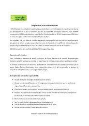 Chargé d'étude et de contrôle de projets - EDF EN