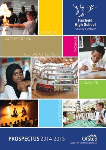 Fairfield School Prospectus 2014-2015