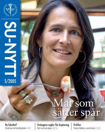 SU-Nytt, nr 5 2005 - Stockholms universitet