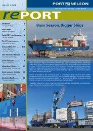April 2009 (pdf) - Port Nelson