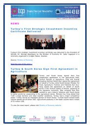 Turkey's First Strategic Investment Incentive Certificate Delivered ...