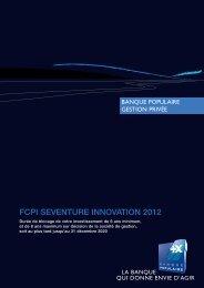 FCPI SEVENTURE INNOVATION 2012 - Seventure Partners