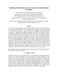 Modeling Chaotic Behavior of Stock Indices Using ... - CiteSeerX