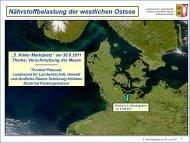 Nährstoffbelastung der westlichen Ostsee - Maritimes Cluster ...