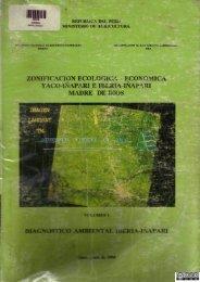 ZONIFICACION ECOLÓGICA - ECONÓMICA YACO-IÑAPARI E ...