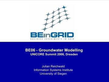 BE06 - Groundwater Modelling - Unicore