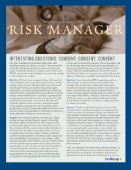 2011 First Quarter Risk Manager - Medical Assurance Company of ...