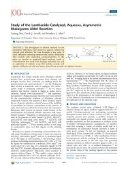 Study of the Lanthanide-Catalyzed, Aqueous, Asymmetric ...