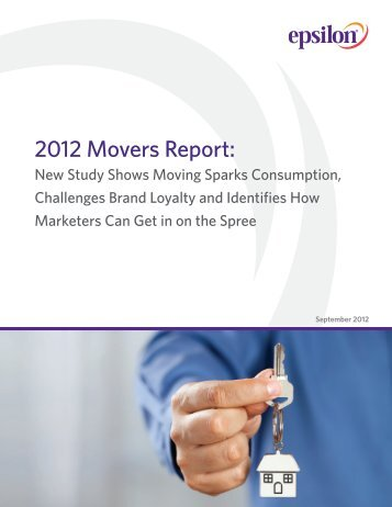 2012 Movers Report: - Epsilon