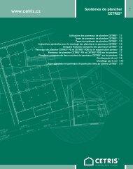 Systèmes de plancher CETRIS® 7