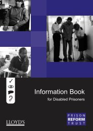 Information Book for Prisoners with a Disability - Inside Time