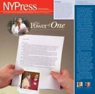 January 2010 NYPress - New York Presbyterian Hospital