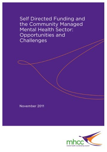 Discussion Paper, November - Mental Health Coordinating Council
