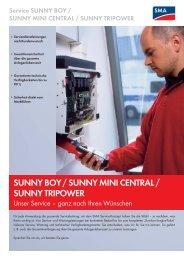 SUNNY BOY / SUNNY MINI CENTRAL / SUNNY TRIPOWER ...