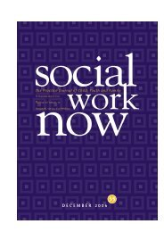 Social Work Now (pdf) - Child, Youth and Family