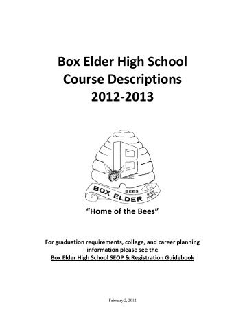 Course Offerings (pdf) - Box Elder High School