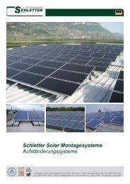 Schletter Solar Montagesysteme Aufständerungssysteme