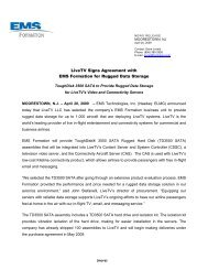 LiveTV Signs Agreement with EMS Formation for Rugged Data ...